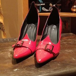 Witchy Red Patan Heels
